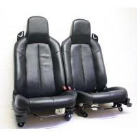 Mazda MX5 (Mk3) - Seats (without airbag) - black heated leather - fits 2005-2008