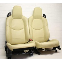 Mazda MX5 (Mk3.5/3.75) - Seats (without airbag) - cream leather - fits 2009-2015